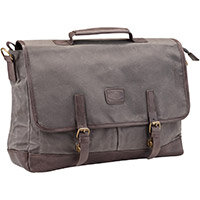 Pride and Soul Vegas 15inch Laptop Briefcase Grey/Brown Ref 47303