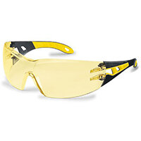 Uvex Pheos Safety Spec Yellow Ref 9192-385 Pack of 5