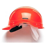 Scott Safety Style 300 HC300SB Unvented Helmet with Polyethylene Standard Headgear Hi Vis Orange Ref HC300SBHO