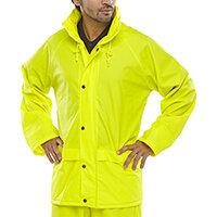 B-Dri Weatherproof Super B-Dri Jacket with Hood Size S Saturn Yellow Ref SBDJSYS