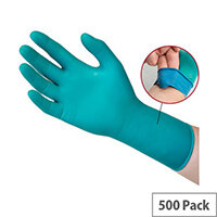 Ansell Microflex 93-260 Size 7 S Chemical Resistant Synthetic Composite Disposable Gloves Green Pack of 500 Ref AN93-260S