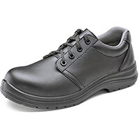 Click Footwear Micro Fibre Washable Tie Work Shoes S2 Steel Toe Cap Size 4 Black - Slip Resistant & Shock Absorber Heel, Anti-static & Oil Resistant Sole, Water Resistant Upper Ref CF82304
