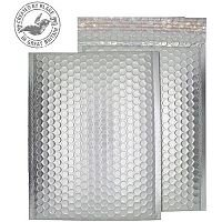 Purely Packaging Bubble Envelope P&S C5+ Matt Metallic Chrome Ref MTA250 [Pk 100]