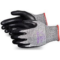 Superior Glove Tenactiv Cut-Resist Composite Knit Nitrile 7 Black Ref SUSTAFGFNT07