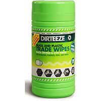 Dirteeze Glass & Plastic Trade Wipes Dispenser Tub 200x250mm Ref DZGP80 [80 Wipes]