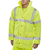 B-Seen High Visibility Constructor Jacket Size 5XL Saturn Yellow Ref CTJENGSY5XL