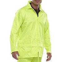 B-Dri Weatherproof Lightweight Nylon Jacket with Hood Size M Saturn Yellow Ref NBDJSYM
