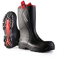 Dunlop Purofort Plus Rugged Safety Rigger Boots Size 6 Black Ref C76204306