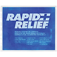 Rapid Relief Reusable Hot/Cold Gel Compress C/W Contour Gel 9in x 11in Ref RA12290
