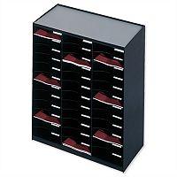 Paperflow Modulodoc Mailsorter Plastic Stackable 36x A4 Compartments W674 x D308 x H791mm Black Ref 80301