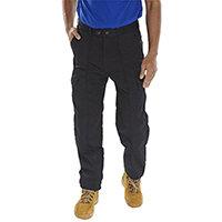 Super Click Workwear Drivers Work Trousers 52 inch Waist with Regular Leg Black Ref PCTHWBL52