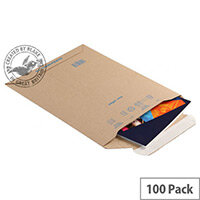 Blake Purely Packaging 280x200mm Peel and Seal Pocket Envelopes Kraft Pack of 100