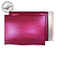 Purely Packaging Bubble Envelope P&S C3 Metallic Bright Pink Ref MBP450 [Pack 50]