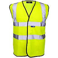 Supertouch High Visibility Vest with Velcro and Black Binding XXXLarge Yellow Ref 35246