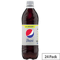 Diet Pepsi Cola Soft Drink 600ml Soft Drink Bottles Pack of 24