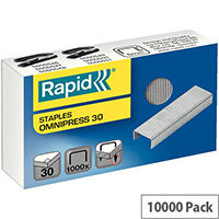 Rapid Omnipress 30 Staples 6mm Shank Length Pack of 1000 10 Boxes