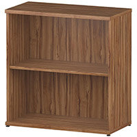 Low Bookcase with 1 Shelf H800mm Walnut