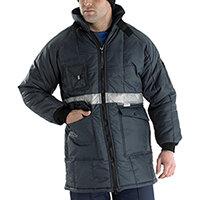 Click Freezerwear Coldstar Freezer Jacket Size L Navy Blue  Ref CCFJNL
