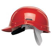 Scott Safety Style 300 HC300SB Unvented Helmet with Polyethylene Standard Headgear Red Ref HC300SBRE