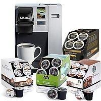 Keurig K150P Plumbed Coffee Machine & FREE Starbucks, Barista Prima, Green Mountain Coffee & Twinings Tea Pods