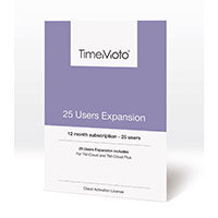 Safescan TimeMoto User Expansion 25 Users for Cloud / Cloud Plus Time Attendance Software