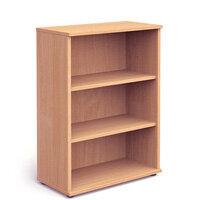Medium Bookcase with 2 Shelves H1200mm Beech