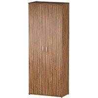 Tall Cupboard With 5 Shelves H2000mm Walnut