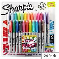 Sharpie Colour Burst Fine Permanent Marker 24 Pack