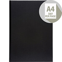 5 Star Office 2020 Diary Day to Page Casebound and Sewn Vinyl Coated Board A4 297x210mm Black