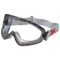 3M 2890S Comfort Safety Goggles with Fully Adjustable Elastic Headband