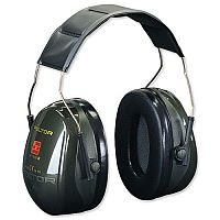 3M Peltor Optime II Ear Muff Defenders 31dB Noise Reduction Ear Muffs Black
