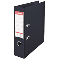 Esselte No.1 Power A4 Lever Arch File PP 500 Sheets 75mm Spine Black Ref 880019