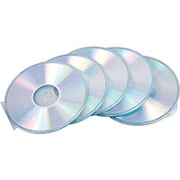 Fellowes CD Cases Round Slimline Clear Ref 9834201 Pack of 5