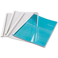 Fellowes White Thermal Binding Covers A4 Clear Front White Rear Ref 53151 Pack of 100