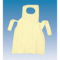 Premium Disposable Polythene Yellow Aprons On Rolls Pack 200