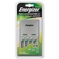 Energizer Maxi Battery Charger 4x AA Batteries 2000 mAh UK 633151