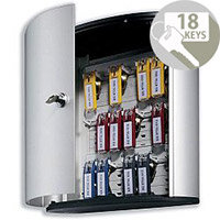 Durable Key Box 18 Key Safe Cabinet Silver