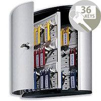 Durable Key Box Key Safe Cabinet 36 Key Capacity Silver