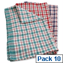 Robinson Young Tea Towels 460x680mm Chequered Ref 0311 Pack 10 174974