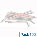 Plastic Flexible Drinking Straws Assorted Pack 100