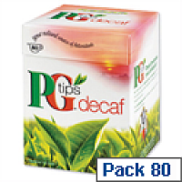 PG Tips Decaf Tea Bags Decaffeinated Box of 80