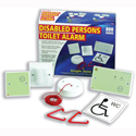 Disabled Persons Toilet Alarm Ceiling Unit with Cord and Mounting Accessories