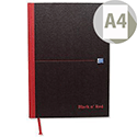 Black n Red A4 Smart Ruled Notebook Casebound C66401