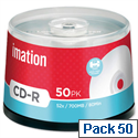 Imation CD-R Disk Spindle Printable 52x Speed 80Min 700MB 17304 Pack 50