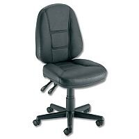Leather HIGH BACK Permanent Contact Office Chair