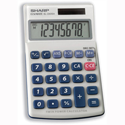 Sharp Handheld Calculator Battery Solar-power 8 Digit EL240SAB