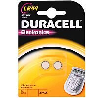 Duracell LR44 Button Cell Coin Batteries Alkaline for Calculator or Pager 1.5V Pack 2