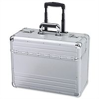 Alumaxx Omega Trolley Pilot Case 2 Combination Locks Silver Aluminium 45122