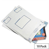 GoSecure Extra Strong Polythene Envelopes 460x430mm Pack of 10