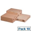 Self Locking Box Carton and Lid A4 305x215x100mm Ref 144667114 Pack 10 193921